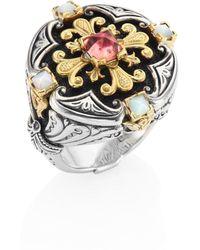 Konstantino - Nemesis Mother-of-pearl & Pink Tourmaline Ring - Lyst