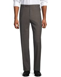 Canali - Stretch Wool Trousers - Lyst