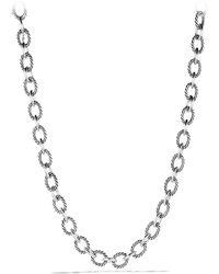 David Yurman - Oval Large Link Necklace - Lyst