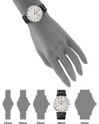 Longines La Grande Classique De Longines Stainless Steel And Leather Strap Analog Watch - Black