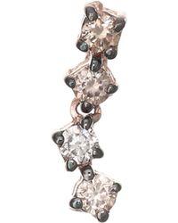 Kismet by Milka - 14k Rose Gold & Champagne Diamond Single Stud Earring - Lyst