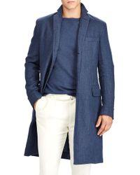 Ralph Lauren Purple Label - Basket-weave Linen Topcoat - Lyst