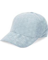 b960474022327 Gents - Men s Executive Suede Baseball Cap - Baby Blue - Lyst