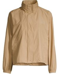 Eileen Fisher Stand Collar Coat - Natural