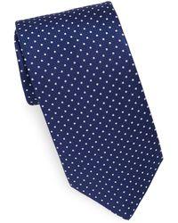 Eton of Sweden - Navy Dot Tie - Lyst