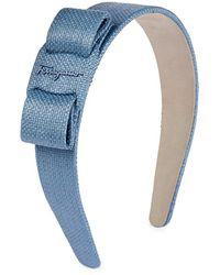 Ferragamo Bow Motif Headband - Blue