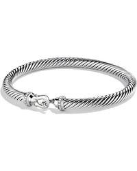 David Yurman - Cable Buckle Bracelet With Diamonds - Lyst