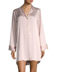 Natori - Three-buttoned Sleepshirt - Lyst