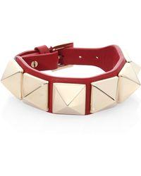 Valentino - Rockstud Large Leather Bracelet - Lyst