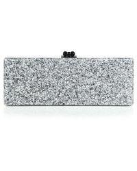 Edie Parker Flavia Glitter Acrylic Clutch - Metallic