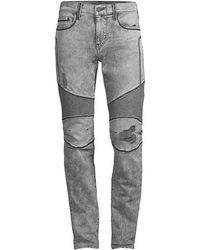 True Religion Rocco Slim-fit Moto Jeans - Gray