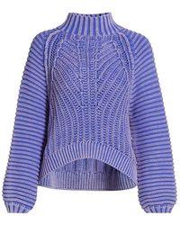 Free People Sweetheart Sweater - Blue