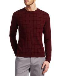 Giorgio Armani - Square Pattern Sweater - Lyst