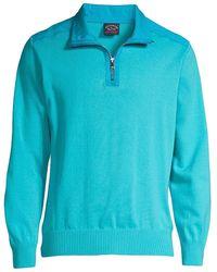 Paul & Shark Quarter-zip Sweater - Blue