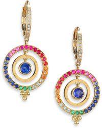 Temple St. Clair - Celestial Multicolor Sapphire, Diamond & 18k Yellow Gold Piccolo Tolomeo Drop Earrings - Lyst