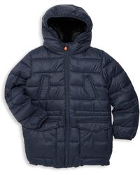 35995cf6c Save The Duck - Little Boy's & Boy's Faux Fur-lined Quilted Jacket - Blue