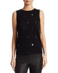 Saks Fifth Avenue - Pailette Sweater Shell - Lyst