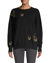 360cashmere - Metallic Skull Cashmere Sweater - Lyst