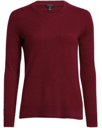 Saks Fifth Avenue Collection Cashmere Roundneck Sweater - Red