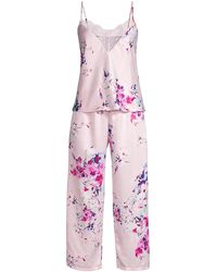 In Bloom Huntington 2-piece Cami & Cropped Pant Pajama Set - Pink