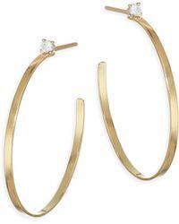 Lana Jewelry - Sunrise Diamond Post Hoop Earrings - Lyst
