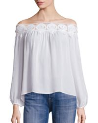 Stone Cold Fox - Kyoko Lace Off-the-shoulder Top - Lyst