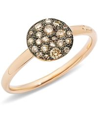 Pomellato - Sabbia Ring With Diamonds In Burnished 18k Rose Gold - Lyst