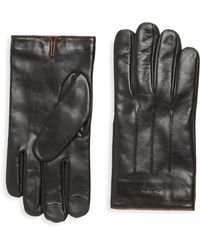 COACH | Tech Leather Gloves | Lyst