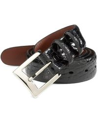 Saks Fifth Avenue Alligator Belt - Black