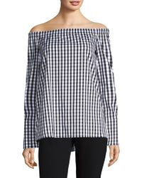 Lafayette 148 New York - Amy Checked Top - Lyst