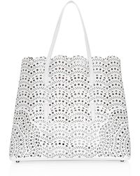 0dd6caa01 Alaïa Red Vienne Classic Laser-Cut Leather Tote in Red - Lyst