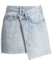 Ksubi Rap Asymmetric Hem Denim Mini Skirt - Blue