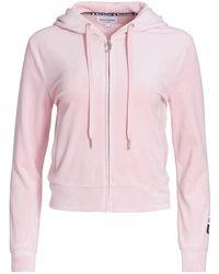 Juicy Couture Velour Zip-up Hoodie - Pink