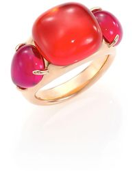 Pomellato Rouge Passion Tangerine Three-stone Ring - Pink
