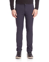 Theory Zaine Neoteric Slim Fit Pants - Purple