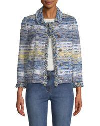 St. John - Ombre Tweed Jacket - Lyst