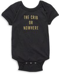 Knowlita - Baby's The Crib Or Nowhere Cotton Bodysuit - Lyst