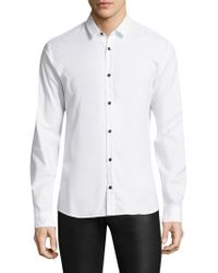 HUGO | Ero Slim-fit Cotton Button-down Shirt | Lyst