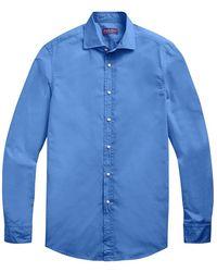 Ralph Lauren Purple Label Aston Washed Poplin Sport Shirt - Blue