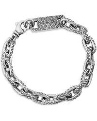 King Baby Studio Oval Link Sterling Silver Bracelet - Metallic