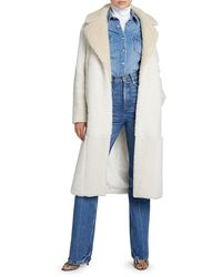 A.L.C. Stanley Sherpa Patchwork Coat - Blue