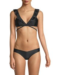 Wildfox - Susie Ruffle Bikini Top - Lyst