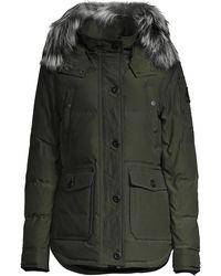 Moose Knuckles Fox Fur-trim Jacket - Multicolor