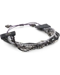 Chan Luu - Gunmetal Mix Adjustable Bracelet - Lyst