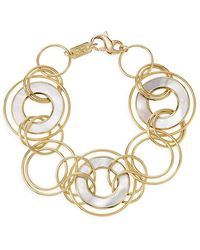 Ippolita Polished Rock Candy 18k Yellow Gold & Mother-of-pearl Slices And Links Bracelet - Metallic