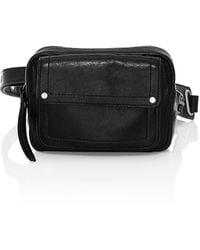 Frye Gia Leather Belt Bag - Black