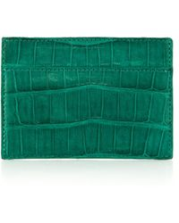 Santiago Gonzalez Crocodile Card Case - Green