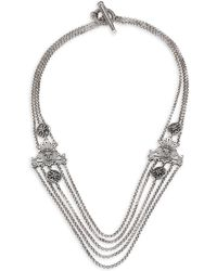 Konstantino - Penelope Sterling Silver Multi-row Station Necklace - Lyst