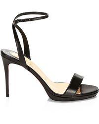 Christian Louboutin Loubi Queen Leather Sandals - Black