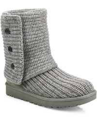 deb3c26faf9 UGG Classic Cardy Boots in White - Lyst
